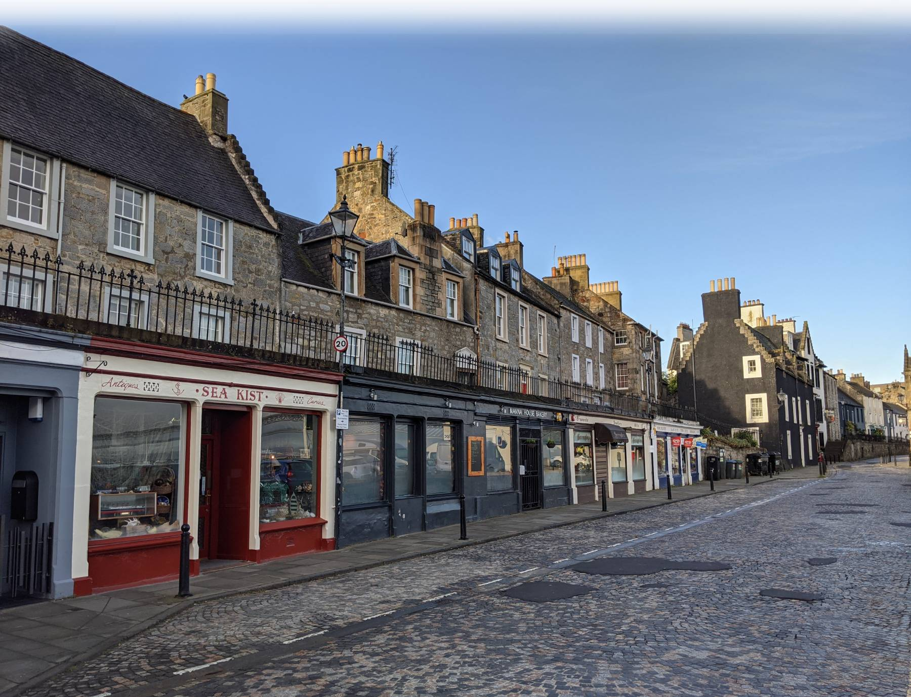 Sea Kist and its neighbouring premises in Queensferry High Street.