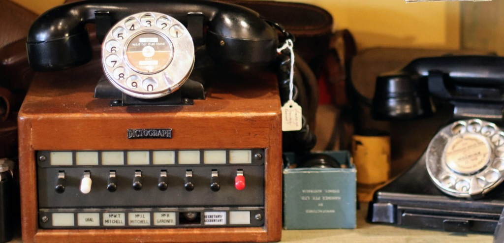 Dictograph and old telephone